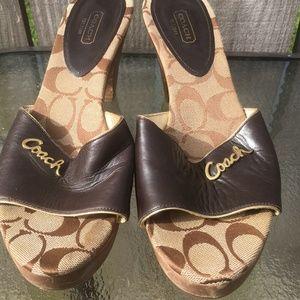 Coach Kathie Mule Heels Sandals Size 10B Women's